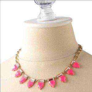 Stella & Dot Eye Candy Necklace - Hot Pink